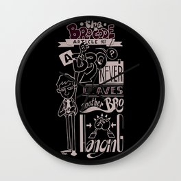 The Bro Code - Article 107 Wall Clock