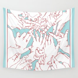 Helping Hands Wall Tapestry