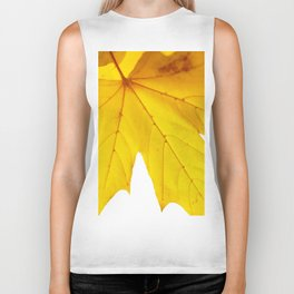 Yellow maple leaf. Biker Tank