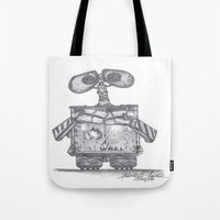 wall e Tote Bags featuring Wall E by Michelle Zombie