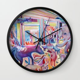 The Mall is a Zoo Wall Clock