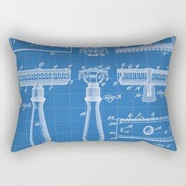 Razor Patent - Barber Art - Blueprint Rectangular Pillow