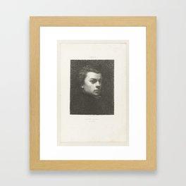 Self Portrait H. 104 IV, Henri Fantin-Latour, 1846-1904 Framed Art Print