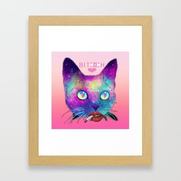 Bitch Face Framed Art Print