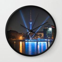 BERLIN lights on  Wall Clock