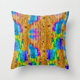 Technicolored Dream Plank Throw Pillow