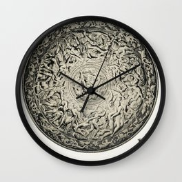 White stork  (Ciconia ciconia) illustrated by the von Wright brothers Wall Clock