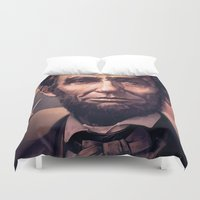 lincoln Duvet Covers featuring Lincoln by Dominick Saponaro