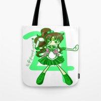 sailor jupiter Tote Bags featuring Sailor Jupiter by Glopesfirestar