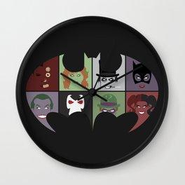 Bat Villains Wall Clock
