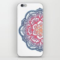 bedding iPhone & iPod Skins featuring Radiant Medallion Doodle by micklyn
