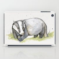 badger iPad Cases featuring MR Badger by Lynette Sherrard Illustration and Design