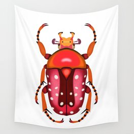 Orange and Red Beetle Wall Tapestry