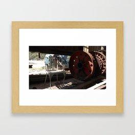 Wheel and Chair Framed Art Print
