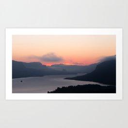 Columbia River Sunrise Art Print