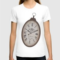 wall clock T-shirts featuring Vintage Clock by Mirakyan