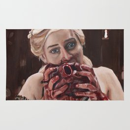 Mother of Dragons Eating a Horse Heart Rug