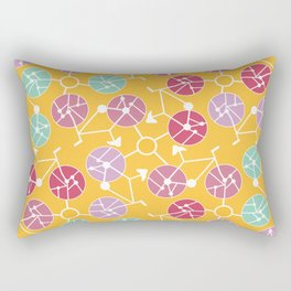 Colorful bikes Rectangular Pillow