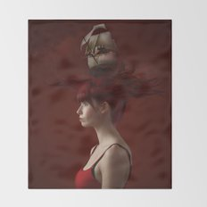Sailing - Red Throw Blanket