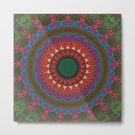 Basal Color Mandala 8 Metal Print