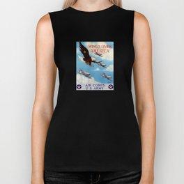 Wings Over America -- Air Corps WW2 Biker Tank