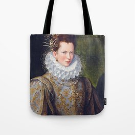 Portrait of Court Lady with Dog Tote Bag