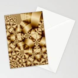 Golden shapes and patetrns in 3-D Stationery Cards