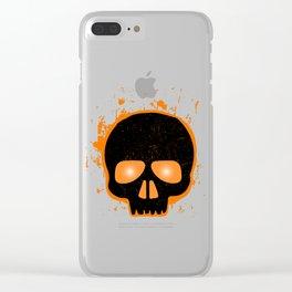 SCARY HALLOWEEN SKULL HEAD Clear iPhone Case
