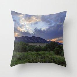 South Boulder Sunset Vista Throw Pillow