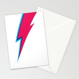 Bowie Lightning Bolt Face Paint Stationery Cards