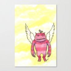 Annoying Bird Canvas Print