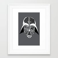celtic Framed Art Prints featuring Celtic Vader by ronnie mcneil