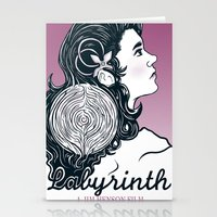 labyrinth Stationery Cards featuring Labyrinth by Yuri Meister