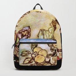 """Harvest Helpers"" by Arthur Rackham (1909) Backpack"