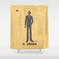 """obama Shower Curtains featuring EL OBAMA by """"dfrnt"""""""