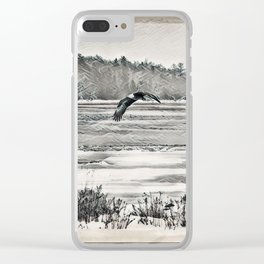 Winter Eagles Clear iPhone Case