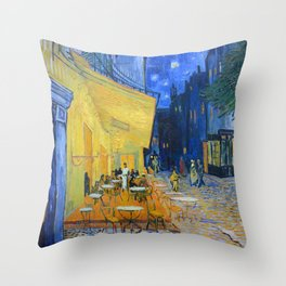 Vincent Van Gogh - Cafe Terrace at Night Throw Pillow