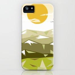 Green alpes iPhone Case