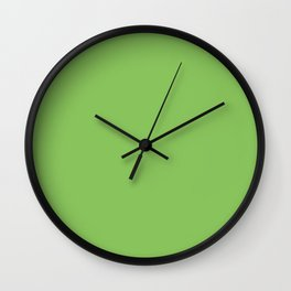 Solid Pale Green Peas Color Wall Clock