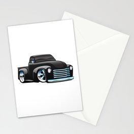 Classic Street Rod Pickup Truck Cartoon Stationery Cards