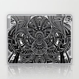 Subconscious Healing Frequency Black and White Edition Laptop & iPad Skin