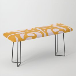 Abstract in Yellow and Cream Bench