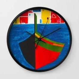 Vintage Procida Italy Travel Wall Clock