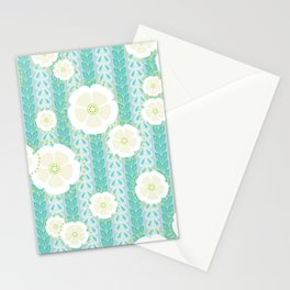 Kanzashi Willow - blues Stationery Cards
