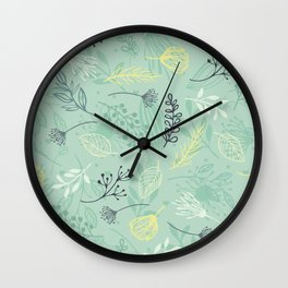 Flowers and Herbs Wall Clock