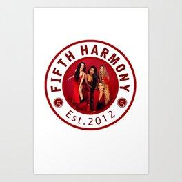 FIFTH HARMONY RED PHOTO CIRCLE Art Print
