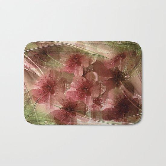 Flower Garden Abstract Bath Mat