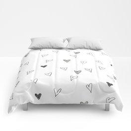Ink hearts pattern Comforters
