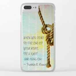 Tie a Knot and hang on Clear iPhone Case