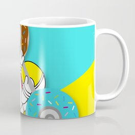 Astro Donut Dumbbell | Astronaut | Cosmonaut | pulps of wood Coffee Mug
